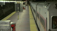 Stock Video Footage of People exit commuter train