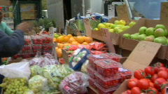 Vegetable stand Stock Footage