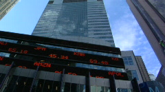 TL stock ticker - stock footage