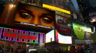Times Square at dusk  Stock Footage