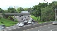 Morning Express Way Traffic Time Lapse Stock Footage