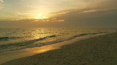Tropical Beach scene Stock Footage