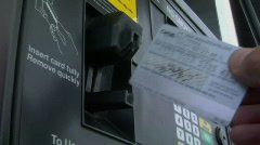 Gas pump & credit card Stock Footage