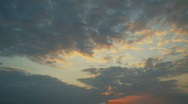 Stock Video Footage of Clouds at sunset