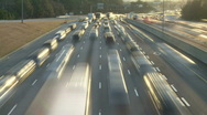 Stock Video Footage of traffic at dusk