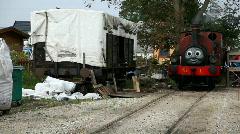 Thomas train look alike Stock Footage