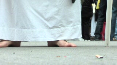 Religious feet 2 Stock Footage