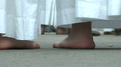Religious feet Stock Footage