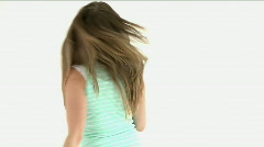 Teenager turning with shopping bags Stock Footage