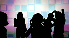 Animation showing shadows partying Stock Footage
