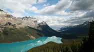 Glacial lake Canada pan P HD 7517 Stock Footage