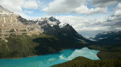 Stock Video Footage of Glacial Peyto Lake Canada Rocky Mountain P HD 7516