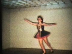Tap Dancing Teenage Girl (1958 Vintage 8mm film) Stock Footage