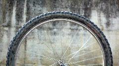 Mountain Bike Wheel Spinning Stock Footage