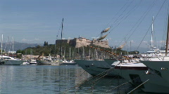 Canne-harbor-02 Stock Footage