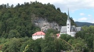 Gothic church bled Stock Footage