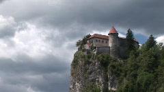 castle slovenia - stock footage