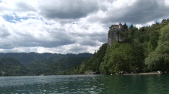 castle lake bled - stock footage