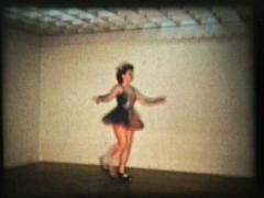 Tap Dancing Girl-Close Up (1958 Vintage 8mm film) Stock Footage