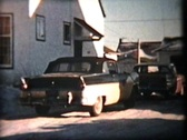 Stock Video Footage of 57 Ford Driving In Winter (1958 Vintage 8mm film)