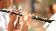 Stock Video Footage of Flutists in the orchestra