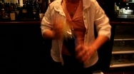 Stock Video Footage of Bartender mixing drink