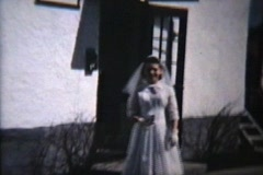 Girl Going To Confirmation (1958 Vintage 8mm film) - stock footage