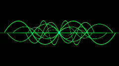 Abstract ripple rhythm line background,sound pattern radar signal technology. Stock Footage