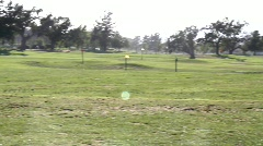 Golfers Practicing Stock Footage
