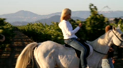 Woman Horseback Riding - stock footage
