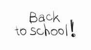Back to school write Stock Footage