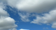Timelapse with clouds moving to you Stock Footage