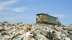 Landfill - stock footage