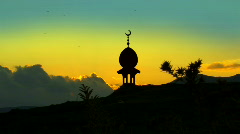 Mosque with Crescent and a Star  Stock Footage