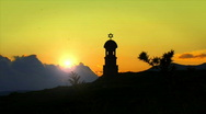 Silhouette of Tower with David Star  Stock Footage
