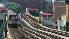Metro Train Passing Stock Footage