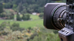 Video Camera Zoom and Pan Stock Footage