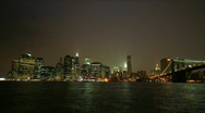 Stock Video Footage of Time-lapse of New York City Skyline