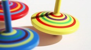 Stock Video Footage of Spinning Tops