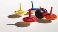 Spinning Tops Stock Footage