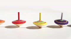 Spinning Tops - stock footage