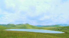 Panorama of Devil's Lake in the national park Durmitor, Montenegro Stock Footage