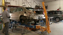 Stock Video Footage of Autobody Repair Shop