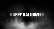 Halloween and lightening Stock Footage