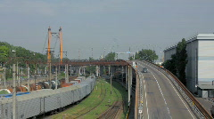 Overpass in the commercial sea port (Full HD)  Stock Footage