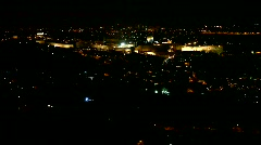 View of old Jerusalem, Israel at night Stock Footage