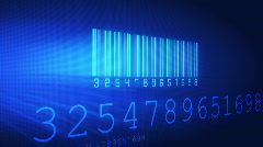 Barcode scan - stock footage