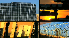 Montage of Solar Energy Panels Stock Footage