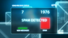 SPAM ATTACK Stock Footage