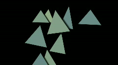 Abstract triangles pattern slowly moving darts symbol vision idea. Stock Footage